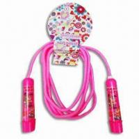 China Plastic Handle Jump Rope in Various Colors, Available in Size of 26 x 13 x 3cm wholesale