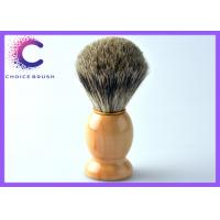 Quality Men's grooming brush , custom shave brush with mixed badger hair / wooden Handle for sale