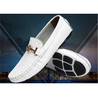 China Crocodile Pattern Loafer Slip On Shoes With Metal Buckle / Anti Slip Rubber Back Counter wholesale