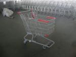 China PU Wheel Supermarket Shopping Carts with Bottom Rack , funky shopping trolley wholesale
