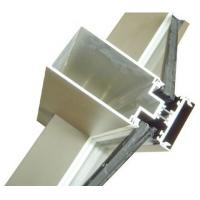 China Aluminum Curtain Wall Extruded Profiles with cutting , drilling wholesale