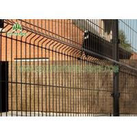 Pre - Galvanized Welded Mesh Fence PVC Coated Heat Resistant With 4 Bends