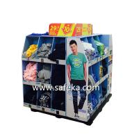 China OEM/ODM Corrugated Cardboard Full Pallet Displays for Clothes in Walmart Promotion wholesale