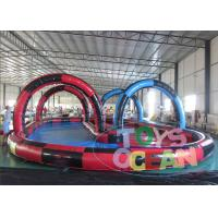 China 30x15M PVC Inflatable Interactive Games Commercial Zorb Ball Track For Kids wholesale
