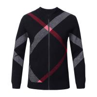 Slim Fit Mens Warm Winter Sweaters Zip Front , Mens Knitted Cardigan Jacket