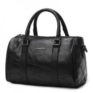 China Genuine Leather Fashion Ladies HandBags Black Shoulder With Adjustable Shoulder Strap wholesale