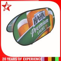 Quality Oval Popup A Frame Banners Dye Sublimation Different Graphic Printing On Double Sides for sale