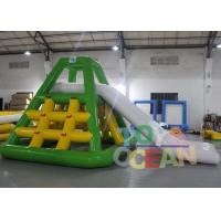 China Summer 0.9mm PVC Tarpaulin Floating Water Slide Inflatable Water Park Equipment wholesale