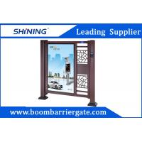 China Fast Speed Brown Color Automatic Swing Gates For School Parking Entrance wholesale