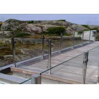 China Residential Balcony Stainless Steel Glass Railing Flooring Mounted Customized Size on sale