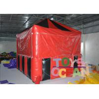 China Red / Black Kids Playground Inflatable Tents , Candy Floss Selling Tent Inflatable Store For Rental wholesale