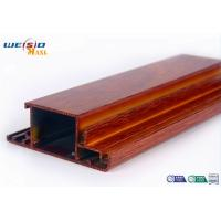 China Wood Grain Surface AA6063 T5 Aluminium Extrusions Profiles For Door / Windows wholesale