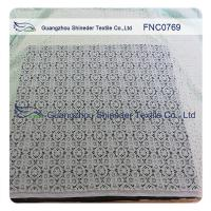 China ±150CM Charming Nylon Cotton Lace Fabric AZO Free Dyeing 76.5% Nylon + 23.5% Cotton wholesale