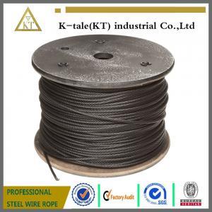 Steel Wire Rope coated with Asphalt/black steel wire rope /black galvanized steel wire rope