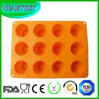 China Beautiful Flowers Food Grade Silicone Chocolate Mold Cake Tools Jelly Candy Ice tool wholesale