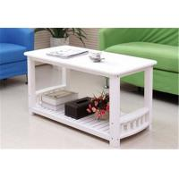 China Eco - Friendly White Timber Coffee Table , Stable Construction Small White Round Coffee Table wholesale