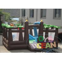 China Outdoor Inflatable Playground Forest Theme Obstacle Amusement Playground For Kids wholesale