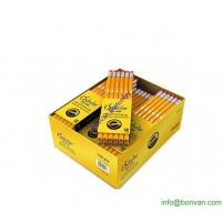 China store selling dozen pack yellow Hb pencil, bulk sell wooden pencil in display box wholesale