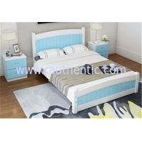 China Modern Apperance King Size Pine Bed , Single Wooden Frame Beds With Drawers wholesale