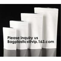 Kraft Paper Bags, Zip Lock Stand-up Reusable Sealing Food Pouches with