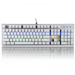 China 104 Keys PC Computer Illuminated Gaming Keyboard Blue Switch With LED Backlight wholesale