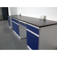 China Laboratory Wooden Material Wall Bench , Drawer Biology Lab Bench wholesale