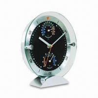 China Novelty Desk Clock with Weather Station, Hygrometer and Thermometer, Different Colors are Available wholesale