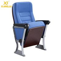 China ABS Armrest Strong Aluminum Base Auditorium Chair With Writing Pad wholesale