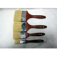 China Wholesale Bristle Paint Brush With Red Lacquered Wooden Handle Round Edge Iron wholesale