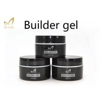 China Private Label UV Nail Builder Gel Clear , Hard Nail Extension Soak Off Jelly Gel Polish wholesale