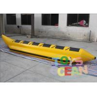China PVC Inflatable Water Toy Inflatable Double Row Banana Boat For Outdoor Activity wholesale