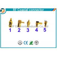 China 50 Ohm , 75 Ohm Right Angle Straight SMB Coaxial Connector Low Reflection wholesale