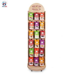 China Wooden Display Racks Rotating Snack Area Sweet Shop Display Stands wholesale