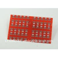 China Red LPI Solder Mask Double Sided PCB 0.8mm Lead Free HASL White Silkscreen wholesale