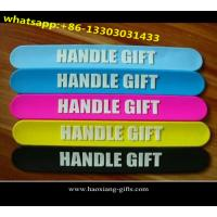 China hot promotional silicone slap band/wholesale favuorable rubber slap bracelets wholesale