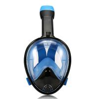 China Wide View Snorkeling Full Face Diving Mask With Anti-Leak / Underwater Breathing Mask wholesale