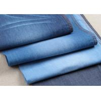 Buy cheap Light Weight 100% Cotton Twill Stretch Denim Fabric Satin In Turkey Blue Color from wholesalers