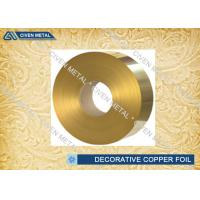 China Brass Rolled Copper Foil For Decorative Industry , copper sheet for crafts wholesale
