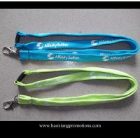 China Cheap Custom 15*900mm green polyester lanyard Silkscreen printing logo wholesale
