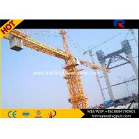 Quality 8T Construction Lift Equipment , Hammerhead Tower Crane Two Angle Steel With Rib for sale