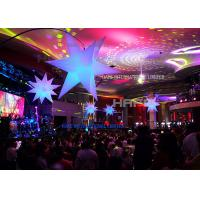 2m diameter Hot sale giant inflatable beautiful advertising led lighting star with led light for wedding