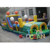 China Excellent Fun Outdoor Obstacle Course For Adult /  Commercial Bounce House wholesale