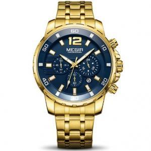 China Wholesale Fashion Men Multifunction Chronograph Steel Band Quartz Wrist Watches Luminous 3 atm Watches  2068 wholesale