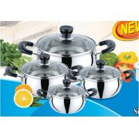 China 8 Piece Apple Stainless Steel Kitchen Cookware Sets for 14CM, 16CM, 18CM, 20CM wholesale
