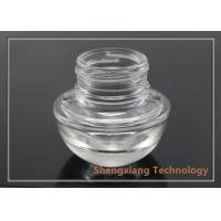 Quality 20g Heart Shaped Face Cream Clear Glass Bottles for Cosmetic Packaging for sale