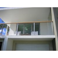 China Exterior Stainless Steel Cable Railing Balustrade Wire Floor Mounted CE Approval on sale