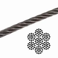 "China 1/8"" 7x19 Galvanized Aircraft Cable , Airplane Cable Breaking Strength 2000 lb wholesale"