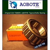 China Timken Tapered Roller Bearing , LM29749 / LM29711 Stainless Steel Roller Bearing wholesale