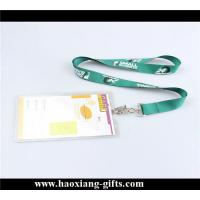 China Custom printing your logo 20*900mm any color polyester lanyard with id card wholesale