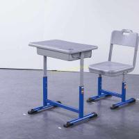 China XJ-K013 Standard Adjustable Iron Aluminum Enviornmental Middle School Desk and Chair on sale